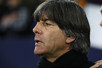 Bundestrainer Joachim Loew (Deutschland Germany) singt die Nationalhymne mit - 19.11.2018: Deutschland vs. Niederlande, 6. Spieltag UEFA Nations League Gruppe A, DISCLAIMER: DFB regulations prohibit any use of photographs as image sequences and/or quasi-video.