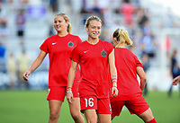 Orlando, FL - Saturday October 14, 2017:  Emily Sonnett  during the NWSL Championship match between the North Carolina Courage and the Portland Thorns FC at Orlando City Stadium.