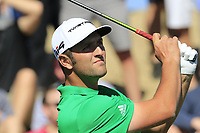 Jon Rahm (ESP) tees off the 7th tee during Saturday's Round 3 of the Waste Management Phoenix Open 2018 held on the TPC Scottsdale Stadium Course, Scottsdale, Arizona, USA. 3rd February 2018.<br /> Picture: Eoin Clarke | Golffile<br /> <br /> <br /> All photos usage must carry mandatory copyright credit (&copy; Golffile | Eoin Clarke)