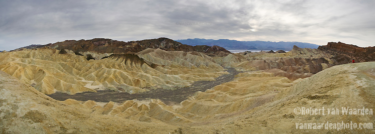 Panorama from Zabrieskie Point in Death Valley National Park, California, USA.