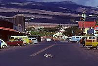 Rush hour in Kaunakakai, Molokai