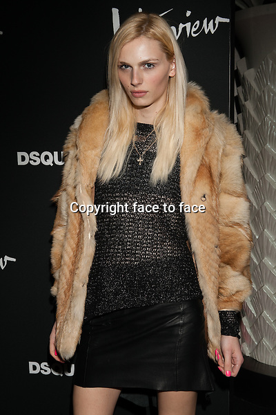 """Andrej Pejic attending the DSQUARED2 and Interview Magazine's screening of """"BEHIND THE MIRROR"""": SPRING SUMMER 2013 Campaign at Copazabana on February 10, 2013 in New York City. ..Credit: MediaPunch/face to face..- Germany, Austria, Switzerland, Eastern Europe, Australia, UK, USA, Taiwan, Singapore, China, Malaysia and Thailand rights only -"""