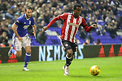 1st November 2017, St. Andrews Stadium, Birmingham, England; EFL Championship football, Birmingham City versus Brentford; Florian Jozefzoon of Brentford runs at the goal