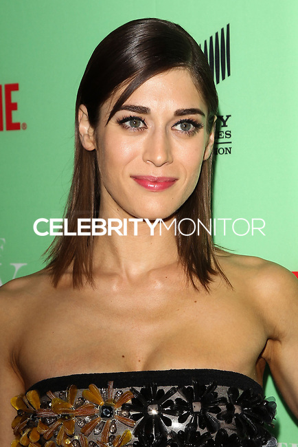 "NORTH HOLLYWOOD, CA, USA - APRIL 29: Lizzy Caplan at Showtime's ""Masters Of Sex"" Special Screening And Panel Discussion held at the Leonard H. Goldenson Theatre on April 29, 2014 in North Hollywood, California, United States. (Photo by Celebrity Monitor)"