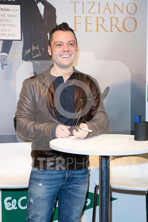 Tiziano Ferro attend the New Album Presentation at El Corte Ingles of Princesa, Madrid,  Spain. March 02, 2015.(ALTERPHOTOS/)Carlos Dafonte)