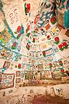 Interior room, Leonard Knight's Salvation Mountain, near Niland, Calif.
