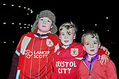 9th January 2018, Etihad Stadium, Manchester, England; Carabao Cup football, semi-final, 1st leg, Manchester City versus Bristol City; young Bristol City fans arrive for the game