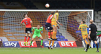 Tom Eaves of Yeovil Town scores the equalizer during the Sky Bet League 2 match between Luton Town and Yeovil Town at Kenilworth Road, Luton, England on 13 August 2016. Photo by Liam Smith.