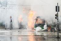 SAO PAULO, SP, 16.09.2014 - REINTEGRAÇÃO DE POSSE- CENTRO - SP - Choque da Policia Militar cumpre ordem de reintegração de posse na região central de São Paulo nesta segunda feira(15).  (Foto: Marcelo Brammer / Brazil Photo Press).