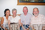 9477-9479.BIRTHDAY TREAT: May Scott, Ballyduff celebrating her birthday on Saturday night in Bella Bia restaurant, Tralee with family and friends. Pictured here are (left) her daughter Rosie Moore who came back from London to surprise her mom, Maurice Laide (Tralee) and Robert Scott (Ballyduff).