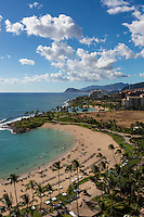 A view of the beaches and resort at Ko Olina Resort, West O'ahu.