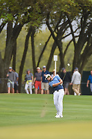 Tyrrell Hatton (ENG) hits his approach shot 1 during day 3 of the WGC Dell Match Play, at the Austin Country Club, Austin, Texas, USA. 3/29/2019.<br /> Picture: Golffile | Ken Murray<br /> <br /> <br /> All photo usage must carry mandatory copyright credit (© Golffile | Ken Murray)