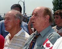 Pierre Trudeau, Jacques, Hebert,Fete du Canada 1997<br /> <br /> <br /> PHOTO : Agence Quebec Presse