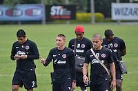 SAO PAULO, 11 DE MARCO DE 2013 - TREINO TIHUANA - Jogadores do Tihuana durante treino no CT do Sao Paulo, na Barra Funda, regiao oeste, na tarde desta segunda feira, 11. (FOTO: ALEXANDRE MOREIRA / BRAZIL PHOTO PRESS)