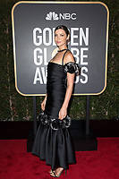 Nominated for BEST PERFORMANCE BY AN ACTRESS IN A TELEVISION SERIES &ndash; DRAMA for her role in &quot;Outlander,&quot; actress Caitriona Balfe arrives at the 75th Annual Golden Globe Awards at the Beverly Hilton in Beverly Hills, CA on Sunday, January 7, 2018.<br /> *Editorial Use Only*<br /> CAP/PLF/HFPA<br /> &copy;HFPA/Capital Pictures