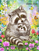 Kayomi, CUTE ANIMALS, LUSTIGE TIERE, ANIMALITOS DIVERTIDOS, paintings+++++,USKH303,#ac#, EVERYDAY ,#A#,realistic ,raccoon