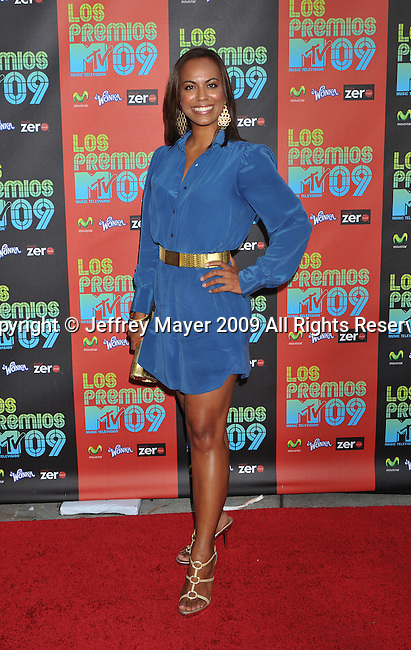 UNIVERSAL CITY, CA. - October 15: Jennifer Rodriguez attends Los Premios MTV 2009 Latin America Awards held at the Gibson Amphitheatre on October 15, 2009 in Universal City, California.