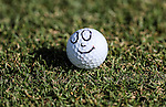 A happy ball during the Autex Muriwai Open, Muriwai Golf Club, Auckland, Saturday 30 April 2016. Photo: Simon Watts/www.bwmedia.co.nz