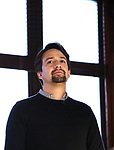 Lin-Manuel Miranda from the 'Hamilton' creative team during a CBS Morning News interview taping with John Dickerson at The Library of Congress on December 2, 2018 in Washington, D.C.