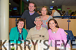 John Groves from Ballymacelligott celebrating his Birthday at the Kingdom Greyhound Stadium on Friday with family  Front l-r Margaret Groves, John Groves, Elma Huggard.  Back l-r Finbar Griffin, Gina Groves