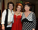 Maria Butterly pictured with her sisters aCaroline and Geraldine at the launch of her new album 'Blue Mandolin' at the Knightsbrook hotel in TrimPhoto:Colin Bell/pressphotos.ie