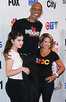 HOLLYWOOD, LOS ANGELES, CA, USA - SEPTEMBER 05: Hailee Steinfeld, Kareem Abdul-Jabbar, Katie Couric arrive at the 4th Biennial Stand Up To Cancer held at Dolby Theatre on September 5, 2014 in Hollywood, Los Angeles, California, United States. (Photo by Xavier Collin/Celebrity Monitor)