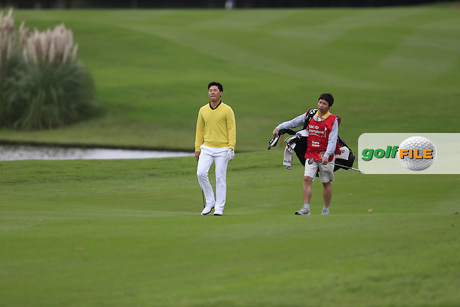 Zhang Xinjun (CHN) on the 18th during round 3 of the WGC-HSBC Champions, Sheshan International GC, Shanghai, China PR.  29/10/2016<br /> Picture: Golffile   Fran Caffrey<br /> <br /> <br /> All photo usage must carry mandatory copyright credit (&copy; Golffile   Fran Caffrey)