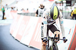 White Jersey Simon Yates (GBR) Orica-Scott finishes his run after crashing during Stage 20 of the 104th edition of the Tour de France 2017, an individual time trial running 22.5km from Marseille to Marseille, France. 22nd July 2017.<br /> Picture: ASO/Thomas Maheux | Cyclefile<br /> <br /> <br /> All photos usage must carry mandatory copyright credit (&copy; Cyclefile | ASO/Thomas Maheux)