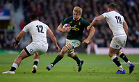 South Africa's Pieter-Steph du Toit in action during todays match<br /> <br /> Photographer Bob Bradford/CameraSport<br /> <br /> Quilter Internationals - England v South Africa - Saturday 3rd November 2018 - Twickenham Stadium - London<br /> <br /> World Copyright © 2018 CameraSport. All rights reserved. 43 Linden Ave. Countesthorpe. Leicester. England. LE8 5PG - Tel: +44 (0) 116 277 4147 - admin@camerasport.com - www.camerasport.com