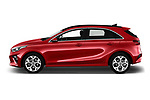 Car Driver side profile view of a 2019 KIA Ceed More 5 Door Hatchback Side View