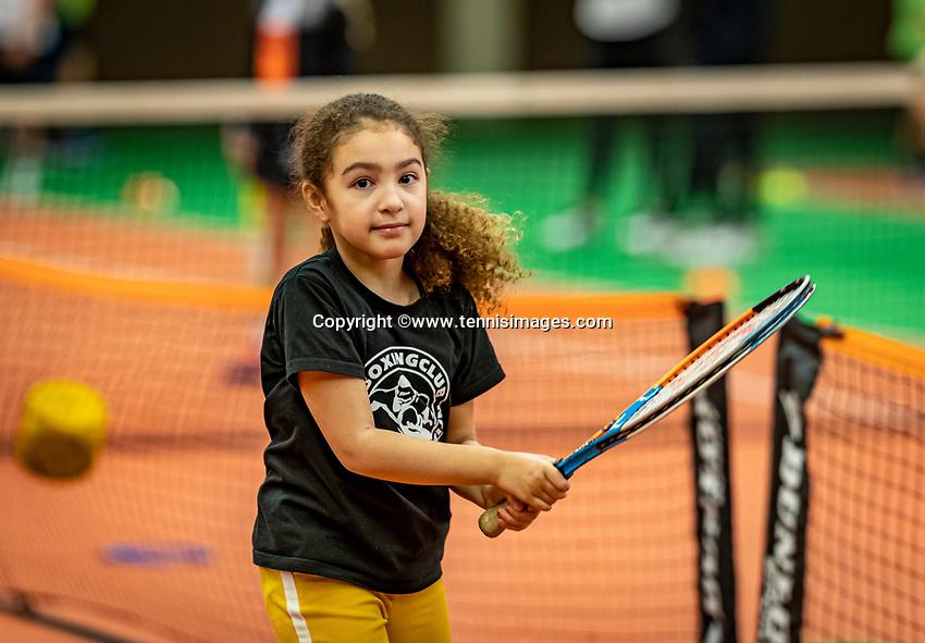 Alphen aan den Rijn, Netherlands, December 18, 2019, TV Nieuwe Sloot,  NK Tennis, Kidsday<br /> Photo: www.tennisimages.com/Henk Koster