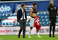 Luke Amos of Queens Park Rangers speaks with Scott Parker manager of Fulham after the match during Queens Park Rangers vs Fulham, Sky Bet EFL Championship Football at the Kiyan Prince Foundation Stadium on 30th June 2020