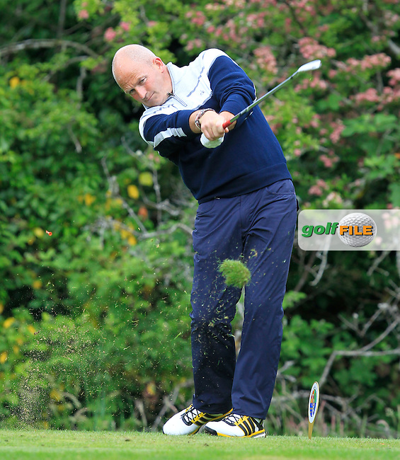 Alan Condren (Greystones) on the 2nd tee during Round 3 of the Irish Mid-Amateur Open Championship at New Forest on Sunday 21st June 2015.<br /> Picture:  Thos Caffrey / www.golffile.ie