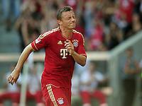 FUSSBALL   1. BUNDESLIGA  SAISON 2011/2012   3. Spieltag FC Bayern Muenchen - Hamburger SV           20.08.2011 Ivica Olic (FC Bayern Muenchen)  verletzt