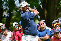 Lee Westwood (GBR) watches his tee shot on 8 during round 4 of the World Golf Championships, Mexico, Club De Golf Chapultepec, Mexico City, Mexico. 3/5/2017.<br /> Picture: Golffile | Ken Murray<br /> <br /> <br /> All photo usage must carry mandatory copyright credit (&copy; Golffile | Ken Murray)