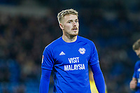 Danny Ward of Cardiff City during the Sky Bet Championship match between Cardiff City and Norwich City at the Cardiff City Stadium, Cardiff, Wales on 1 December 2017. Photo by Mark  Hawkins / PRiME Media Images.