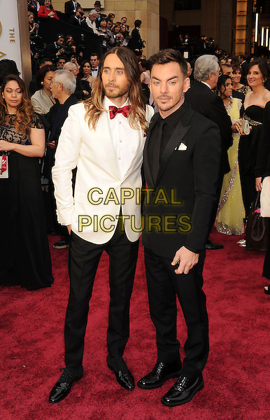 HOLLYWOOD, CA- MARCH 02: Actor Jared Leto (L) and brother Shannon Leto attend the 86th Annual Academy Awards held at Hollywood &amp; Highland Center on March 2, 2014 in Hollywood, California.<br /> CAP/ROT/TM<br /> &copy;Tony Michaels/Roth Stock/Capital Pictures