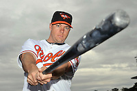 Feb 27, 2010; Tampa, FL, USA; Baltimore Orioles  infielder Michael Aubrey (24) during  photoday at Ed Smith Stadium. Mandatory Credit: Tomasso De Rosa
