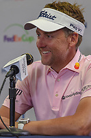 Ian Poulter (GBR) speaks during press conference after finishing at -14 following round 3 of the Houston Open, Golf Club of Houston, Houston, Texas. 3/31/2018.<br /> Picture: Golffile | Ken Murray<br /> <br /> <br /> All photo usage must carry mandatory copyright credit (&copy; Golffile | Ken Murray)