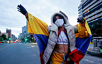 BOGOTA, COLOMBIA - APRIL 28: A sexual worker attend a protest during the lockdown ordered by the Colombian Government on April 28, 2020 in Bogota. Sexual workers rallied against the Government quarantine that left them without any chance of income. (Photo by Leonardo Munoz/VIEWpress via Getty Images)