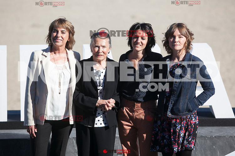 Klara Badiola, Amparo Badiola, Iraia Elias and Nagore Aranburu poses during `Amama´ film presenation at 63rd Donostia Zinemaldia (San Sebastian International Film Festival) in San Sebastian, Spain. September 21, 2015. (ALTERPHOTOS/Victor Blanco) /NortePhoto.com