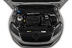 Car Stock 2019 Skoda Superb-Combi Sport-Line 5 Door Wagon Engine  high angle detail view