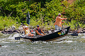 Fishermen & Women floating the Upper Colorado River fishing between Rancho Del Rio and State Bridge on August 9, 2014.