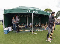 Dubai Polo Team Marquee during the Cartier Queens Cup Final match between King Power Foxes and Dubai Polo Team at the Guards Polo Club, Smith's Lawn, Windsor, England on 14 June 2015. Photo by Andy Rowland.