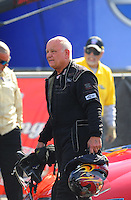 Nov. 13, 2011; Pomona, CA, USA; NHRA funny car driver Gary Densham during the Auto Club Finals at Auto Club Raceway at Pomona. Mandatory Credit: Mark J. Rebilas-.