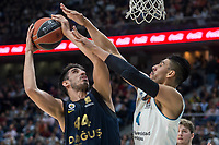 Real Madrid Gustavo Ayon and Fenerbahce Dogus Ahmet Duverioglu during Turkish Airlines Euroleague match between Real Madrid and Fenerbahce Dogus at Wizink Center in Madrid , Spain. March 02, 2018. (ALTERPHOTOS/Borja B.Hojas) /NortePhoto.com NORTEPHOTOMEXICO