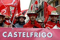 Roma, 2 Dicembre 2017<br /> Lavoratori migranti della Castelfrigo.<br /> Manifestazione della CGIL per Pensioni e Lavoro