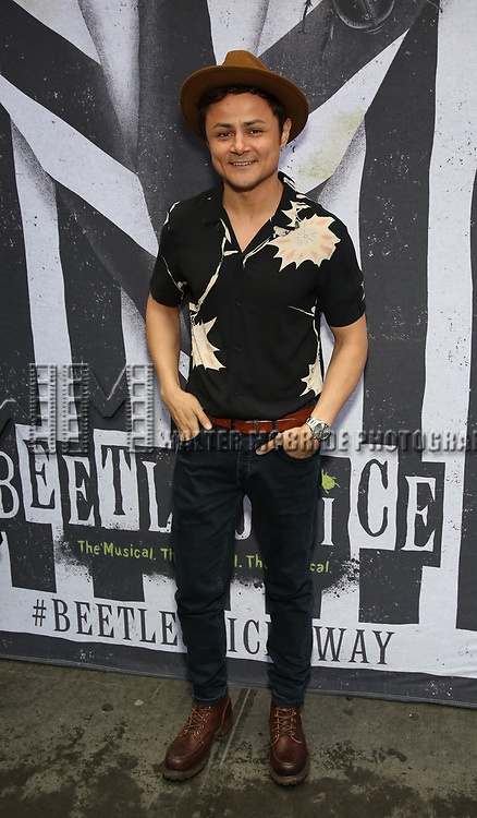 "Arturo Castro attends the Broadway Opening Night Performance for ""Beetlejuice"" at The Wintergarden on April 25, 2019  in New York City."