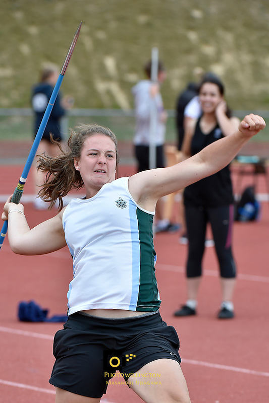 Action from the College Athletics - Girls Zone at Newtown Park, Wellington, New Zealand on Monday 2 March 2015. <br /> Photo by Masanori Udagawa. <br /> www.photowellington.photoshelter.com.