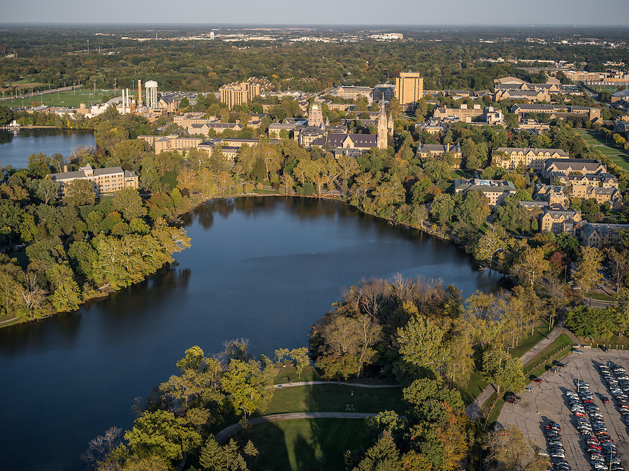 Oct. 7, 2015; Campus aerial. (Photo by Matt Cashore/University of Notre Dame)